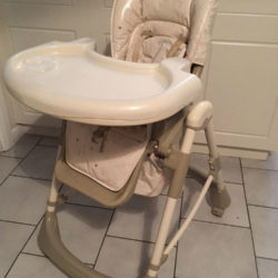 Front side view of high chair