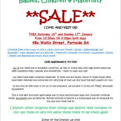 Baby Sale Advert
